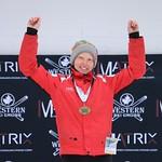 Tabor Western Ski Cross event Jan 2017 - Jan 22 U14 Women's winner Charlotte Gibson
