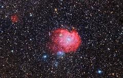 NGC2174 Monkeyhead Nebula region. DSLR Image (kees scherer) Tags: monkey head nebula ngc2174 hdr esprit astrophotography public domain universe space ngc2175