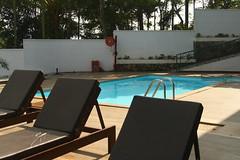 """Forest Canopy Resort"", at Thekkady (ilovethirdplanet) Tags: resort morning sunbeds swimmingpool idukki kerala india ind"
