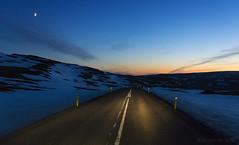 Midnight cruising in the Westfjords (lunaryuna) Tags: iceland northwesticeland westfjords lonelyroad roundtrip nightdrive nightsky afterglow moon lightmood driving journey voyage hurryon lunaryuna winter season seasonalbeauty