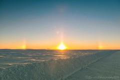 OCT_5555s (savillent) Tags: sunset sun sundog landscape sky snow arctic north ocean ice road tuktoyaktuk northwest territories canada savillent january 2017