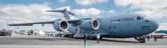 DSCF0575 (tkaiponen) Tags: plane airplane turku display outdoor aircraft cargo airshow vehicle globemaster usaf aw c5 airfield 2015 445th lentokentt lentonyts