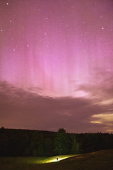 Polarity (MecCanon [Insta: JLPhotoOfficial]) Tags: new york pink sky rose night clouds canon landscape eos lights noche open nacht space wide rosa sigma upstate ciel astrophotography cielo aurora albany f18 dslr northern nuit espace adirondack borealis cme aurore 1835 sacandaga 60d