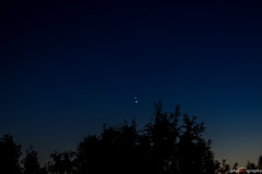 Jupiter Venus Conjunction (UltimateMili) Tags: trees sky nature june germany stars deutschland venus outdoor space himmel astro astrophotography planets astronomy nightsky jupiter bume weltall sterne astronomie 2015 conjunction phnomen konjunktion