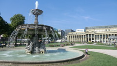 Wuerttemberg:  Stuttgart - fountain at Schlossplatz (Traveller-Reini) Tags: fountain germany deutschland stuttgart outdoor brunnen architektur gebude wuerttemberg