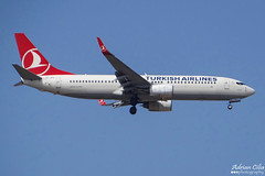 Turkish Airlines --- Boeing 737-800 --- TC-JFU (Drinu C) Tags: plane aircraft aviation sony boeing dsc turkish 737 mla 737800 turkishairlines tcjfu lmml hx100v adrianciliaphotography