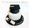 Graduation Cake (K's fondant Cakes) Tags: white black cake gold graduation pearls quilted effect λευκό μαύρο χρυσό τούρτα φιόγκοσ ζαχαρόπαστα πέρλεσ