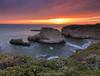The burning cove (hazarika) Tags: california sunset davenport canon1635mmf28liiusm sharkfincove canon5dmarkiii singhray3stopreversegnd mausamhazarikaphotography