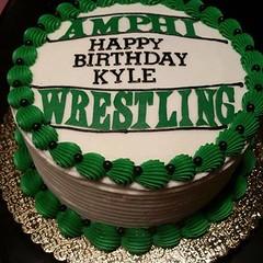 Wrestling cake by Rebecca, Tucson, AZ, www.birthdaycakes4free.com
