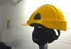 Hardhat with inbuilt Headphones for museum use