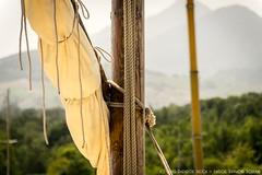 Ropes & sails on a catalan sailingboat..