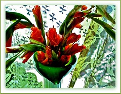 Glad Grace (Marcia Portess-Thanks for a million+ views.) Tags: flowers stilllife flores fleur beauty leaves map blossoms yeats gladiolas glads labelleza greencoral marciaportess marciaaportess enteredinsyb gladgrace