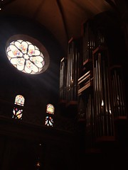 Freiburg Munster (rjmiller1807) Tags: holiday church germany dark europe cathedral july stainedglass organ freiburg munster 2015