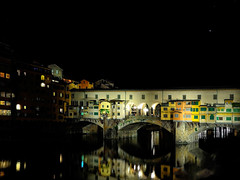"""Notturno"" (helmet13) Tags: bridge sky italy water architecture stars florence venus nightshot peaceful silence pontevecchio waterreflection riverarno aoi peaceaward eveningambiance heartaward leicaxvario"