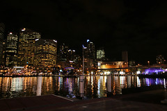Cockle Bay - Sydney, Australia (Jungle Jack Movements) Tags: night ferriswheel darlingharbour darling harbour wharf pier lights nightsky australia electric great light nightlife quay urban nsw newsouthwales cocklebay bay cockle pyrmont bright skyline city sydney brightlights citylight citylights john capital ss reflection jungle jack
