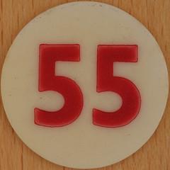 Bingo Number 55 (Leo Reynolds) Tags: xleol30x squaredcircle number numberbingo xsquarex bingo lotto loto houseyhousey housey housie housiehousie numberset 55 sqset120 50s canon eos 40d xx2015xx xxtensxx sqset