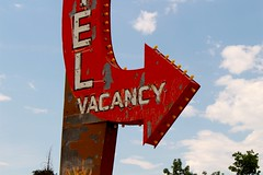 Vacancy (Greyframe) Tags: old red summer arizona usa sun hot sign vintage lost hotel rust place desert outdoor country motel burning heat weathered lonely rost greyframe vacancz