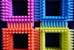 Corner harmony (Monceau) Tags: blocks toys plastic corner colorful macro