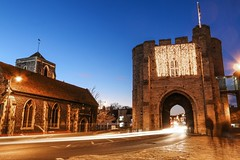 Westgate Towers, Canterbury (that Geoff...) Tags: canterbury westgate towers kent city cathedral tourism guildhall bluehour canon 70d light trails traffic heritage unitedkingdom greatbritain gb uk