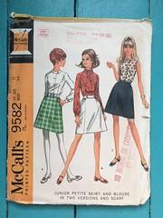 McCall's 9582 (kittee) Tags: kittee vintagesewing vintagepatterns mccalls 9582 mccalls9582 juniorpetite petite teen size11 bust34 skirt blouse scarf ascot princessseams sleeveless longsleeves miniskirt 1968 1960s sewing sewingpattern vintage pattern