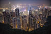 Hong Kong at Night (jgottlieb) Tags: leica mp typ 240 35mm summilux asph fle sky terrace hong kong observation deck buildings night nighttime city view victoria peak 1701 0117