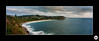 Mona Vale Headland Flickr (Big Bald Biker) Tags: beach monavale sunrise cliffs fuji film mona vale panorama sydney seascape gx617