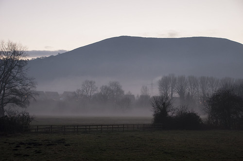 Misty afternoon in Abergavenny