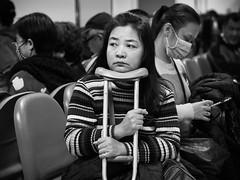 the wait (dr.milker) Tags: hospital taiwan taipei street urban blackandwhite bw noiretblanc blancoynegro memorial mackay crutch waitingroom 台灣 台北 人 街拍 醫院 紀念 馬偕 黑白 都市 candid