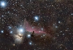 Flame and Horsehead Nebula (Andrew Klinger) Tags: