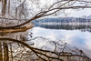 Snow at Clopper Lake (Maryland's Seneca Creek State Park) (Insite Image) Tags: senecacreekstatepark snow reflection lake trees maryland md water clopperlake branches winter montgomerycounty ripples waterripple gaithersburg mdinfocus insiteimage