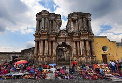 Unbroken (ott.geoffrey) Tags: elcarmen antigua guatemala ruins building earthquake colonial centralamerica latinamerica sale weavings paintings forsale vendors streets market