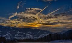 Coucher de soleil sur la vallée du Giffre (glassonlaurent) Tags: couché de soleil vallée du giffre france paysage hivers neige nuage 74 haute savoie