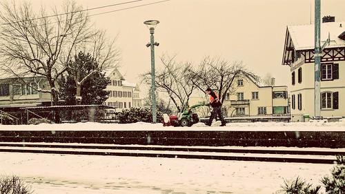 Snow #Bahnhof #plow #trainstation
