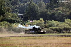 ROK-US Combined Maneuver Demonstration at the 2015 Republic of Korea Army Ground Forces Festival & Gyeryong Military Culture Festival (马华卿 마화경) Tags: military korea rok roka tank infantry maneuver usfk army gyeryong 한국 계룡 지상군페스티벌 군문화축제 군사 국군 대한민국 탱크 전차 demonstration mahuaqingphotography 500d dslr canon 태극기