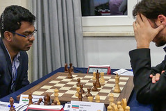 Sethuraman v Ivan Cheparinov (Johnchess) Tags: 29january2017 round6 tradewisegibraltarmasters