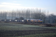 66758 at North Anston (parkgateparker) Tags: gbrf 66758 gypsum northanston syjnt southyorkshirejoint class66