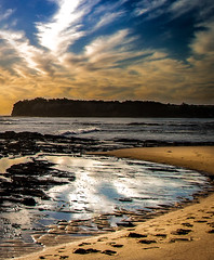 A beautiful world (Martin Snicer Photography) Tags: fishermansbeach collaroy nature landscape australia sydney reflection sky clouds composition travel photographer colour color canon eos70d