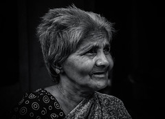 Old Woman (Raja V) Tags: bw faceofindia india woman photowalk thiruvanmiyur beautiful chennai old blackwhite