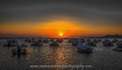 Boats at sunset (Marco Carbone Photography) Tags: sunset boats travel colours italy sicily pictureoftheday agrigento portoempedocle giallonardo nature sea sun