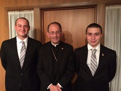 Bishop Persico with seminarians of Altoona Johnstown  - November 2015