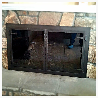 Custom Fireplace Glass Doors in Lookout Mountain, Tn.