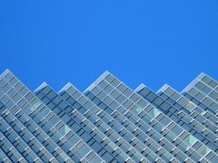 Glass Mountains (amy allcock) Tags: blue toronto abstract building glass topv111 1025fav topv555 bluesky 2006 minimal february mass minimalism kida baystreet frontstreet rbc geometic abstracture amyallcock utatafeature rbctower 0x4683c7