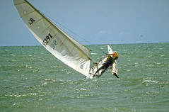 Hobie In Action (Coquine!) Tags: ocean sea sport cat sailing catamaran senegal hobie segeln segel altlantic