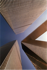 Converging Verticals (Kenny Maths) Tags: nyc newyorkcity usa newyork architecture skyscrapers unitedstatesofamerica worldtradecenter twintowers wtc worldtradecentre interestingness131 kennymathieson