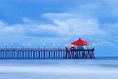 Ruby's (diglips) Tags: ocean california longexposure beach pier lowlight dusk scenic polarizer huntingtonbeach rubys waterscape supershot
