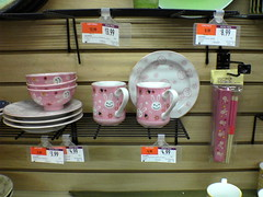 Wild oats dishware (Geek_chic) Tags: china pink mugs cups chopsticks rabbits bowls saucers