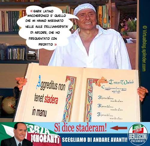 Berlusconi latino maccheronico