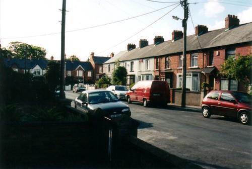 Host family's street, Dublin