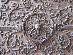 Detail, Door of Notre Dame - by Beppie K