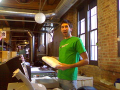 Craig's actually helping us ship (shondi) Tags: cameraphone nokia 6270